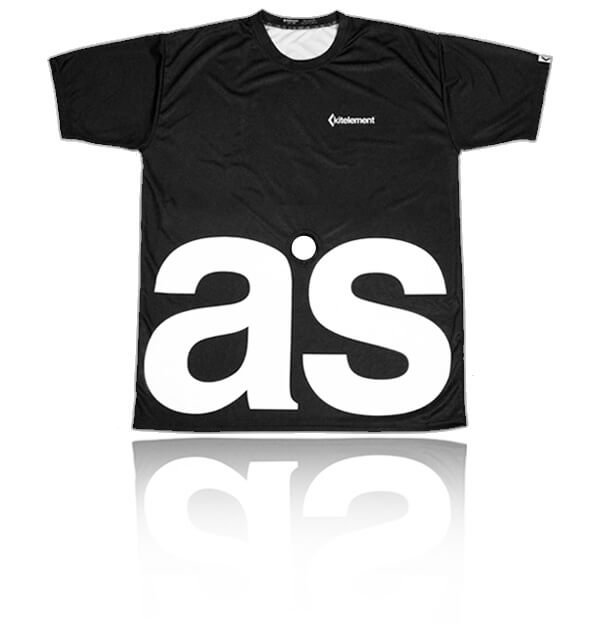 kitelement - T-shirt - re ason black