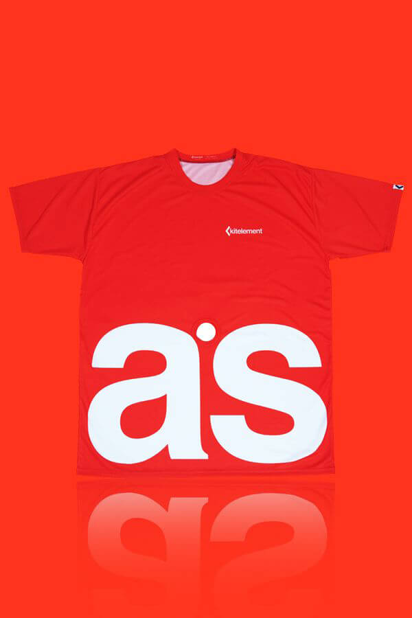 kitelement - T-shirt - re ason hook t-shirt red