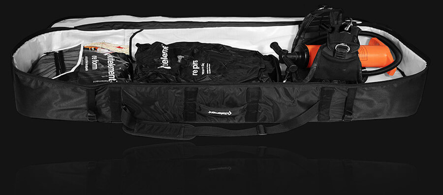 reduce kiteboard bag what fits inside