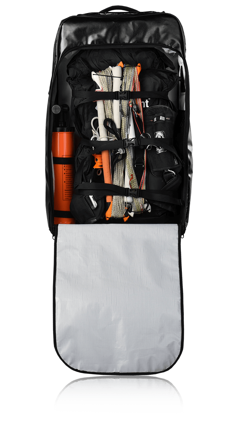 kitelement - travel bag - re pack section for kites