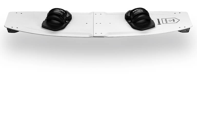 kitelement - split kiteboard - re solve white A-Lock joint system