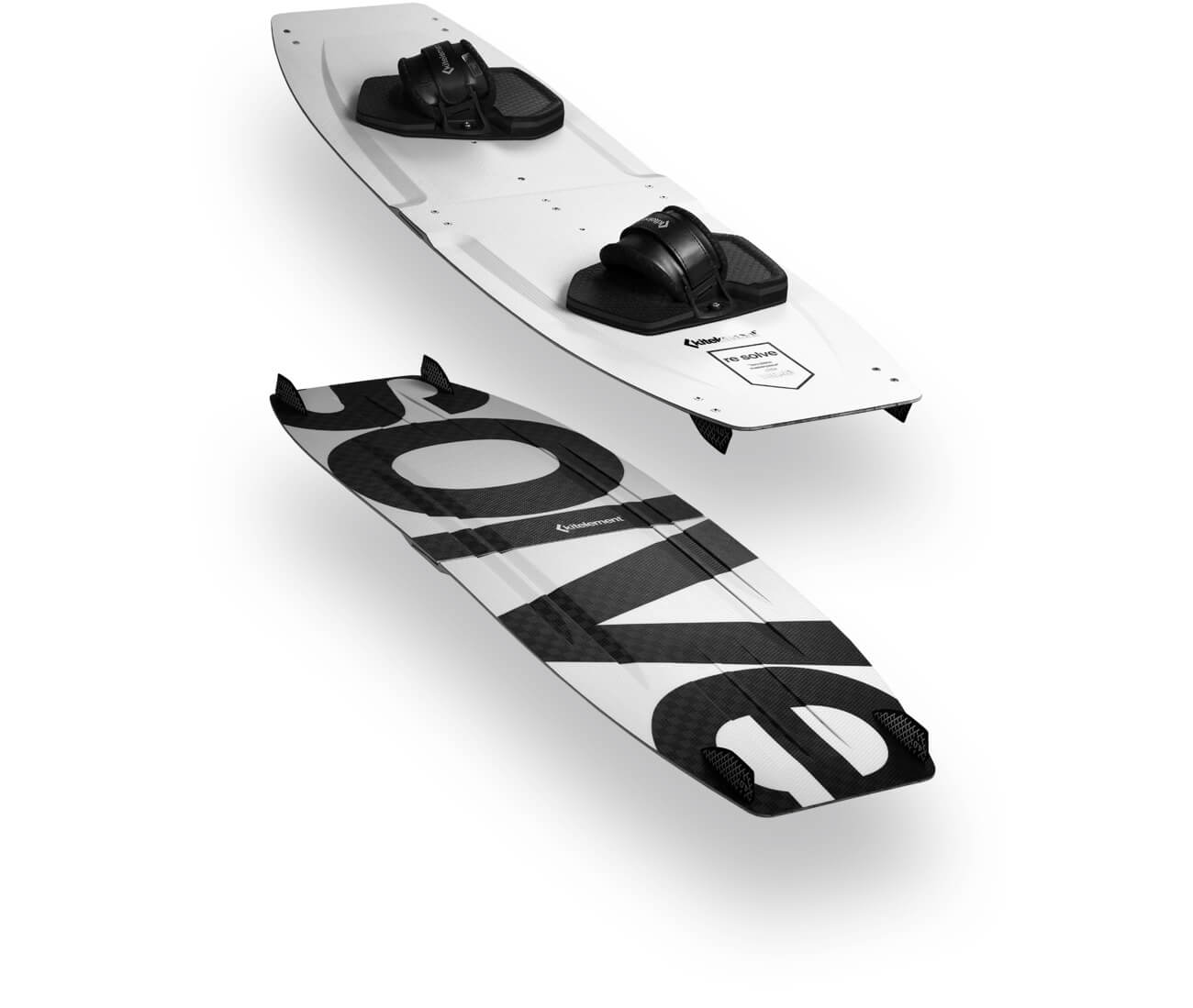 kitelement - split kiteboard - re solve white polyurethane side walls