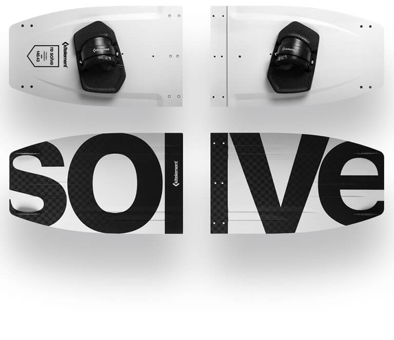 kitelement - split kiteboard - re solve white split & travel